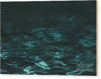 Wood Print featuring the photograph Blue Swirl One by Chris Thomas