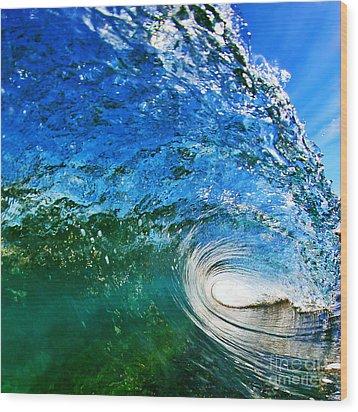 Blue Tube Wood Print by Paul Topp