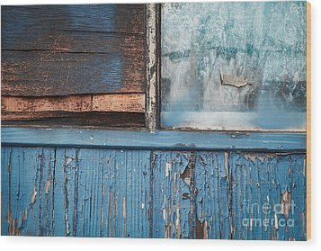 Blue Turns To Grey Wood Print by Dean Harte