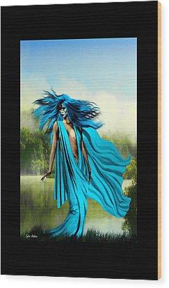 Blue Wood Print by Tyler Robbins