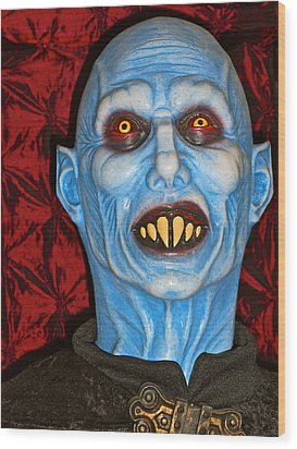 Wood Print featuring the photograph Blue Vampire by Joan Reese