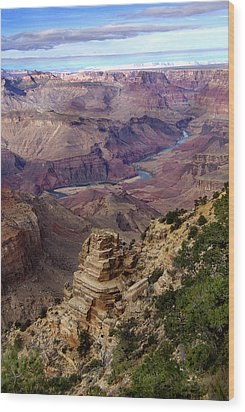 Blue Water In The Grand Canyon Wood Print