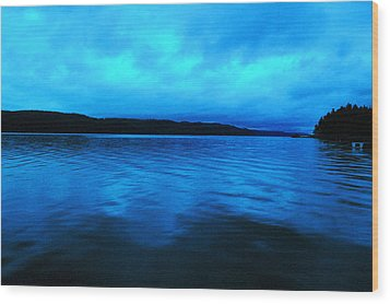 Blue Water In The Morn  Wood Print