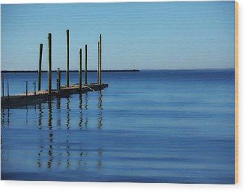Blue Water Wood Print by Karol Livote