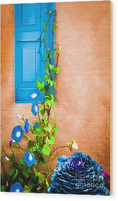 Blue Window - Painted Wood Print