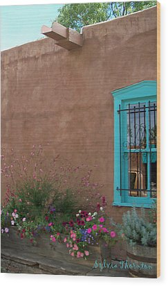 Wood Print featuring the photograph Blue Window by Sylvia Thornton