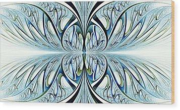 Blue Wings Wood Print by Anastasiya Malakhova