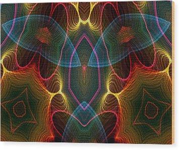 Blue Wings Wood Print by Owlspook