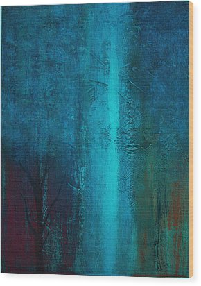 Blue Winter Wood Print by Yul Olaivar