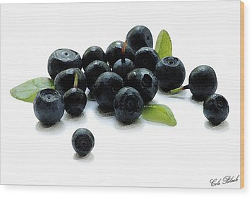 Blueberries Wood Print by Cole Black