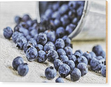 Blueberries Wood Print by Elena Elisseeva