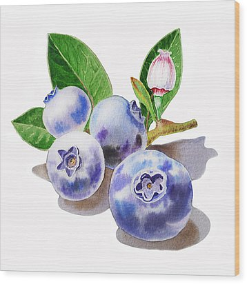 Artz Vitamins The Blueberries Wood Print by Irina Sztukowski