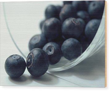 Blueberries Wood Print by Joseph Skompski