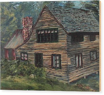 Blueberry Cottage At Twin Lake Village Wood Print by Denny Morreale