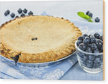 Blueberry Pie Wood Print by Elena Elisseeva