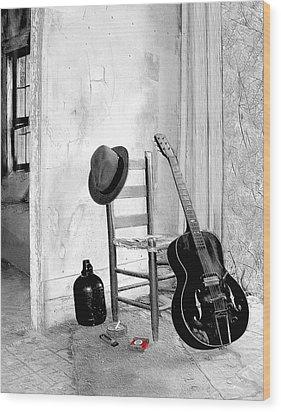 Blues Wood Print by EG Kight