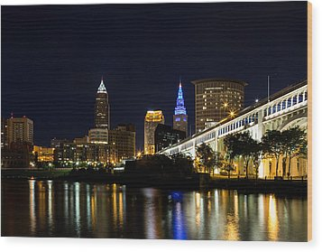 Blues In Cleveland Ohio Wood Print