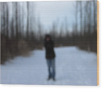 Blurred To Distraction Wood Print