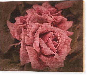 Blush Wood Print by Wallaroo Images