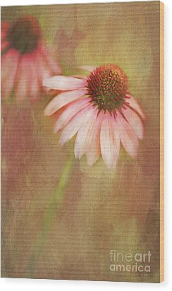 Wood Print featuring the painting Blushing by Linda Blair