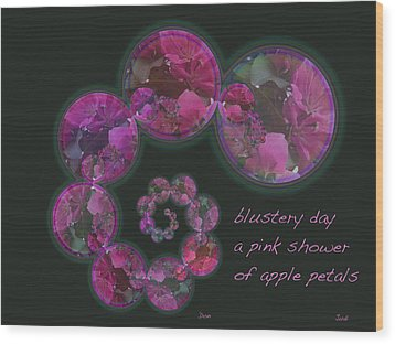 Blustery Day Haiga Wood Print by Judi and Don Hall