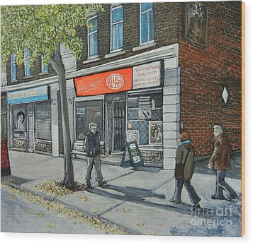 Blvd Monk Ville Emard Wood Print by Reb Frost