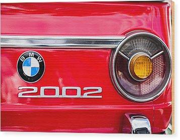 Bmw 2002 Taillight Emblem Wood Print by Jill Reger