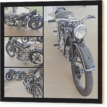 Bmw Art Deco Bikes Wood Print by Maj Seda