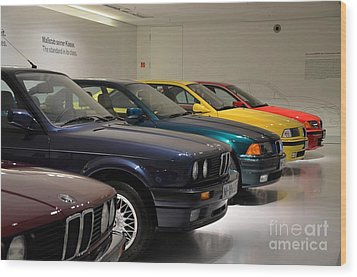 Bmw Cars Through The Years Munich Germany Wood Print by Imran Ahmed