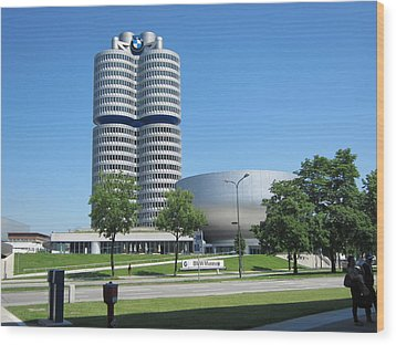 Wood Print featuring the photograph Bmw Head Quaters by Pema Hou
