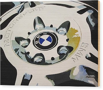 Bmw Ltw Wheel Wood Print by Indaguis Montoto