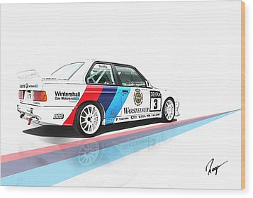 Bmw M3 Wood Print by Roger Lighterness