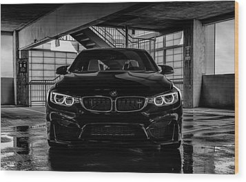 Wood Print featuring the digital art Bmw M4 by Douglas Pittman