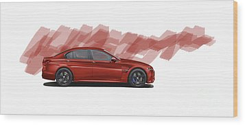 Bmw M5 Fantasy Wood Print by Roger Lighterness