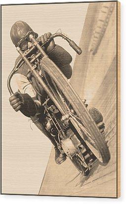 Board Track Racer Wood Print