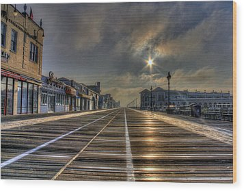 Board Walk  Wood Print by Sharon Batdorf