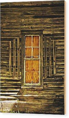 Boarded Window Wood Print by Marty Koch
