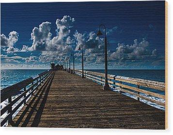 Boardwalk Blues  Wood Print by Cecil K Brissette