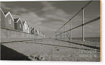 Boardwalk Wood Print by David Warrington