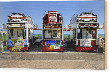 Wood Print featuring the photograph Boardwalk Dining by Glenn DiPaola