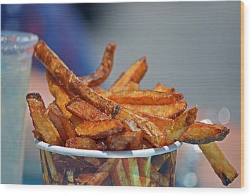 French Fries On The Boards Wood Print by Bill Swartwout