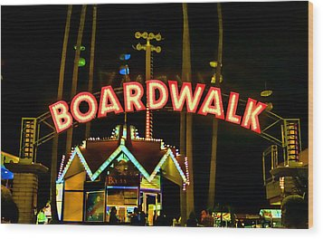 Boardwalk Wood Print by Digital Kulprits