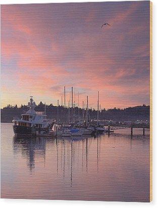 Boardwalk Sunrise Wood Print