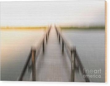 Boardwalk Wood Print by Susan Cole Kelly Impressions