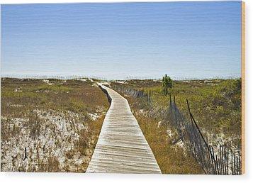 Boardwalk Wood Print by Susan Leggett