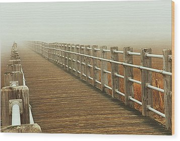Boardwalk To The Unknown Wood Print by Karol Livote