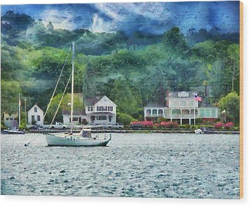 Boat - A Good Day To Sail Wood Print by Mike Savad