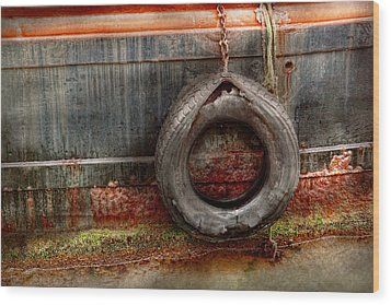 Boat - Abstract - It Was A Good Year Wood Print by Mike Savad