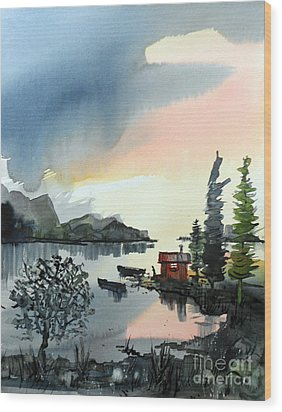 Boat Camp Wood Print by Terry Banderas