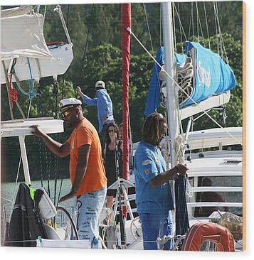 Boat Captain Vs Boat Captain Wood Print